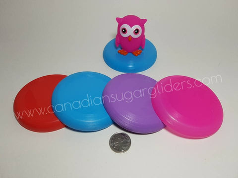 Toy Base Frisbee Disc Saucer 4Pk - Canadian Sugar Gliders