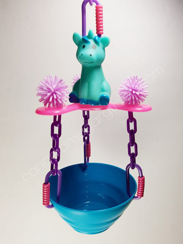 Toy Unicorn Teal Treat Dish - Canadian Sugar Gliders