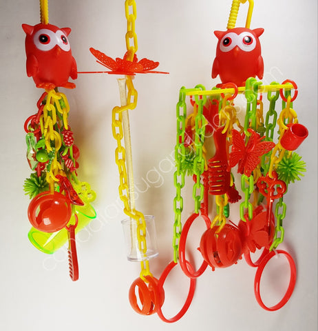 Toy Set Red Owl 3pcs - Canadian Sugar Gliders