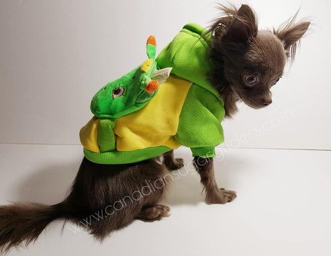 Dog Clothes BackPack Green Caterpillar - Canadian Sugar Gliders