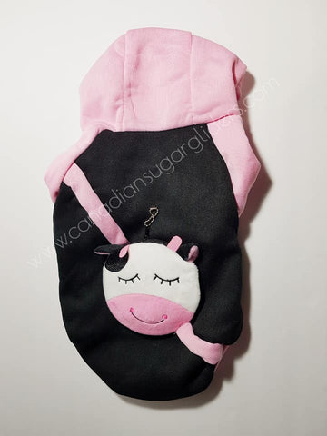 Dog Clothes BackPack Pink Cow - Canadian Sugar Gliders