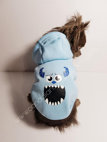 Dog Clothes Decal Sully Monsters Inc Hoodie Sweater - Canadian Sugar Gliders