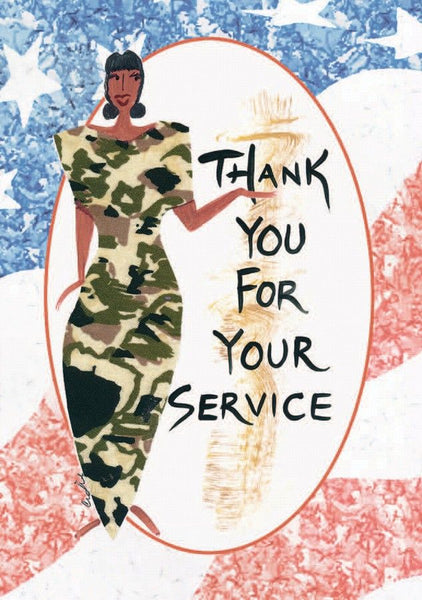 """Thank You For Your Service"" Cidne Wallace Magnet"