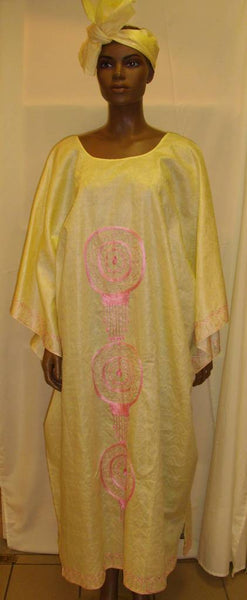 Bubu Light Yellow & Pink Dress