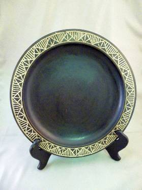 Black Wooden Decorative Plate