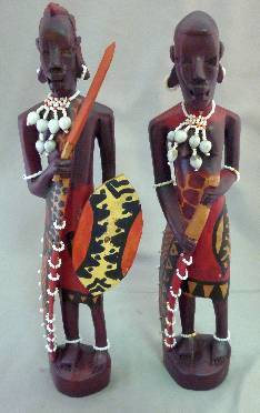 Hand-painted Maasai Couple