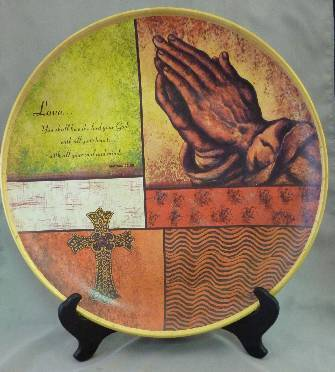 """Praying Hands"" Ceramic Plate"