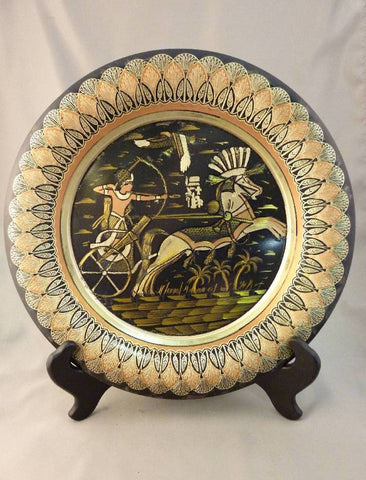 """Pharoah in Battle"" Egyptian Plate"