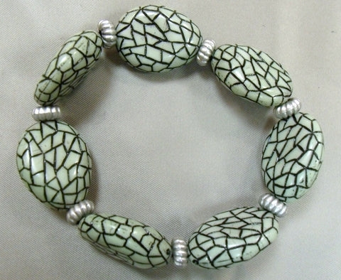 Crackle Green Bracelet