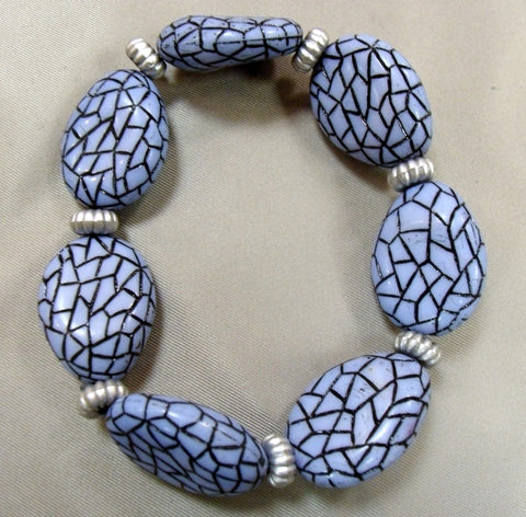 Crackle Blue Bracelet
