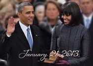The Obama's Second Inauguration magnet