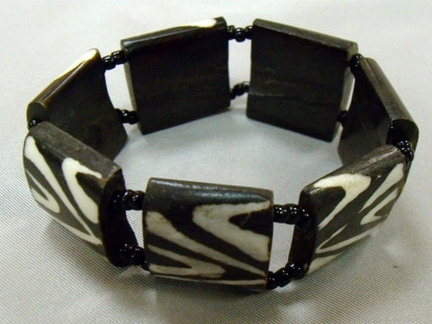 Black & White Bone Bracelet