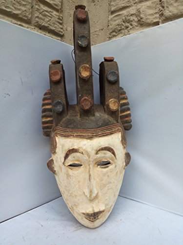 Unique Igbo Mask From Nigeria 25x10 in