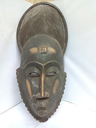 Antique Bawule, Baule, Baoule Mask From Ivory Coast 20x8 in