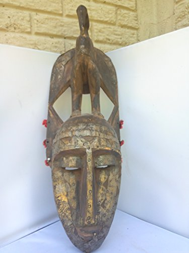 Antique Bambara Mask from Mali West Africa 25x8 in