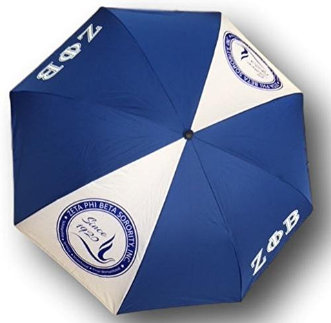Zeta Phi Beta Sorority Upside Down Inverted Dual Layer Umbrella