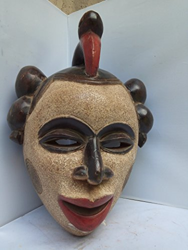 Unique Antique Ibibio Grassland Nigeria Mask 15x9 in