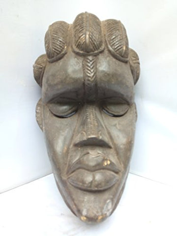 Antique And Unique Bassa Mask From Liberia 13x8 in