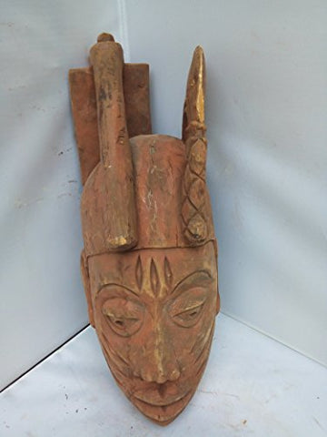 Antique Yoruba Gelede Mask 16x6 in