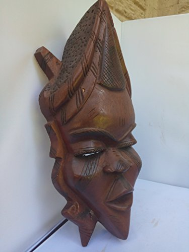 Rare & Unique Mahagany Wood Madingo Fulani Mask From Guinea, Senegal and Mali 15x8 in