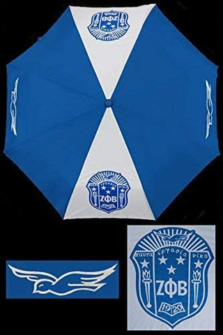 Zeta Phi Beta Auto Open Folding Umbrella
