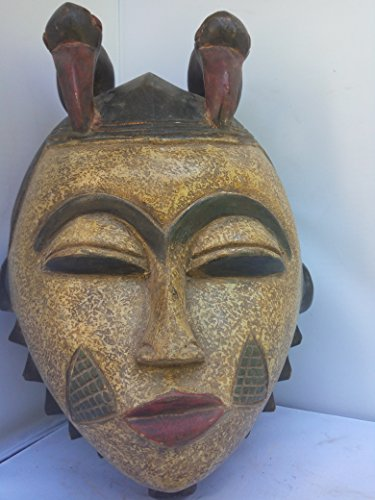 Antique Igbo/ Idoma Mask From Nigeria 14x10 in