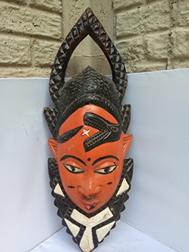 Unique Antique Ekpo Mask From Nigeria 28x10 in