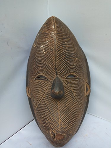 Antique IGBO Mask from Eastern Region of Nigeria 16x9 in
