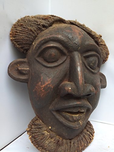 "Unique Antique Bamuleke "" Bamun"" Grassland/Cameroon Mask 17x11 in"