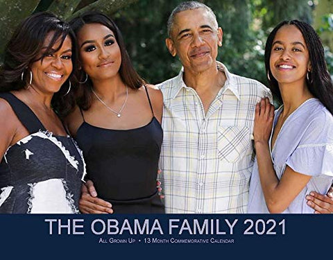 The Obama Family 2021 13 Month Commemorative Calendar