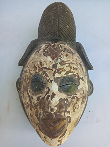 Antique Punu Mask from Gabon West Afrca 10x7 in