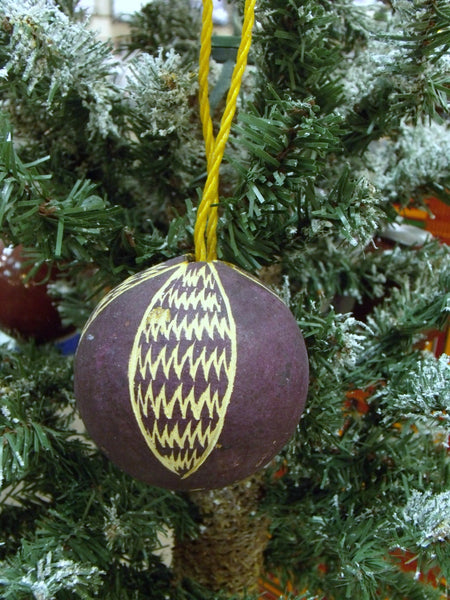 Calabash Purple African Ornament