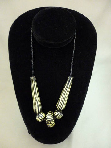 Kenya African Zebra Necklace