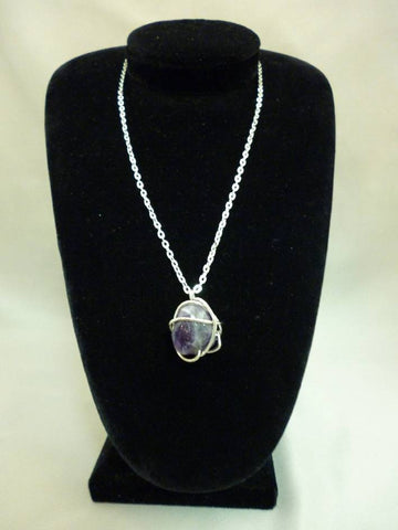 Purple Natural Stone Necklace