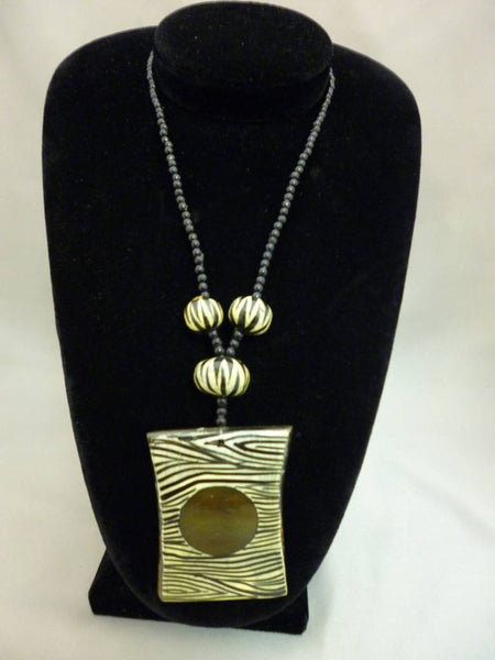 Safari Zebra Necklace