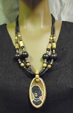 African Princess Wooden Necklace