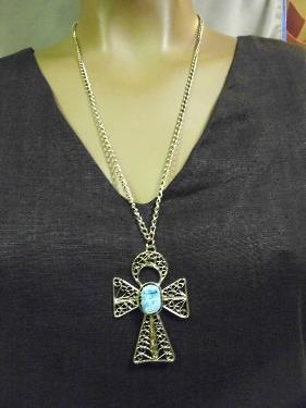 Ankh Cross & Good Luck Beetle