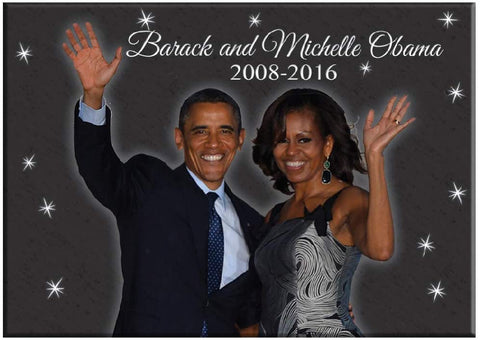 Barack and Michelle Obama Magnet