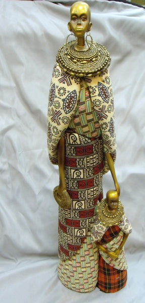 Maasai Mother & Child Figurine