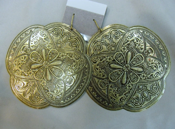 Metal Intricate Patterned Earrings