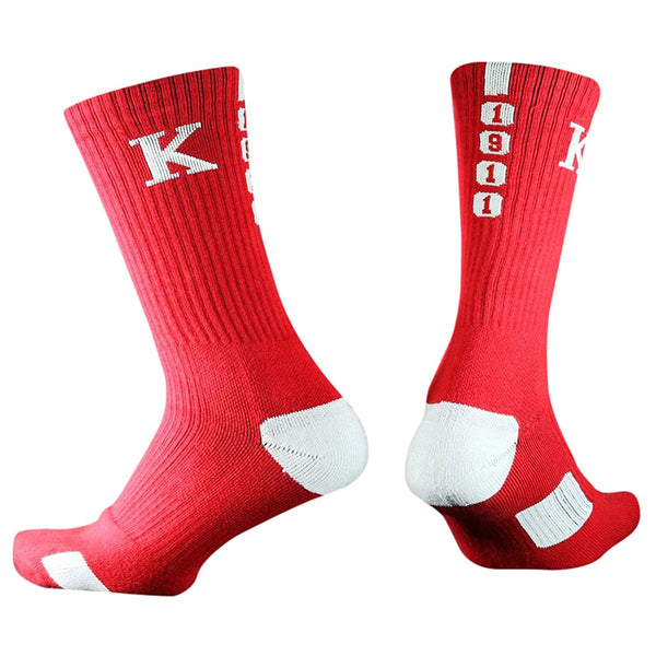 Kappa Alpha Psi Fraternity Athletic Dry Fit Crew Socks