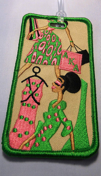 Alpha Kappa Alpha Embroidery Id/luggage Tag Diva