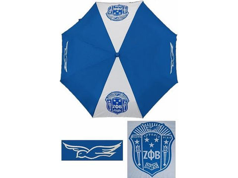 Zeta Phi Beta Sorority 30'' Wind Resistant Auto Open Umbrella