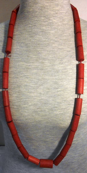 Elegant Antique African Royal Coral Bead Necklace
