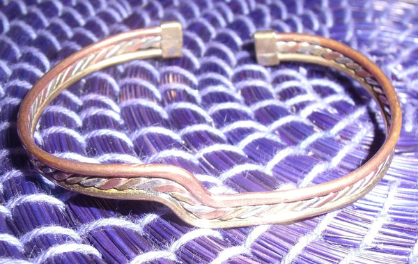 AFRICAN BRASS COPPER WIRE BANGLE
