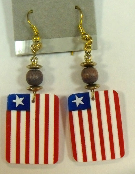 Liberia Flag earrings