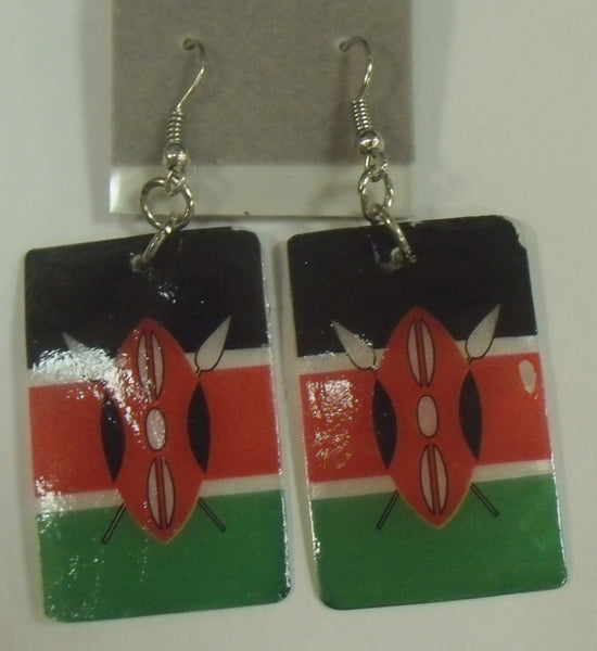 Kenya Flag earrings
