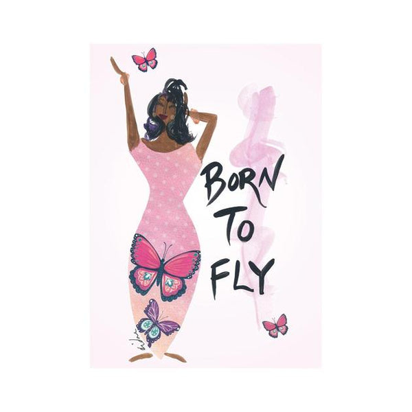 """Born To Fly"" Cidne Wallace Magnet"