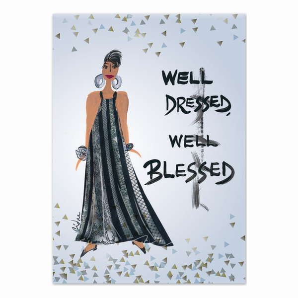 """Well Dressed, Well Blessed"" Cidne Wallace Magnet"