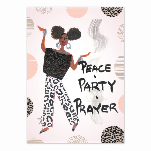 """Peace Party Prayer"" Cidne Wallace Magnet"